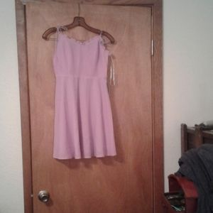 A lilac dress with adjustable straps
